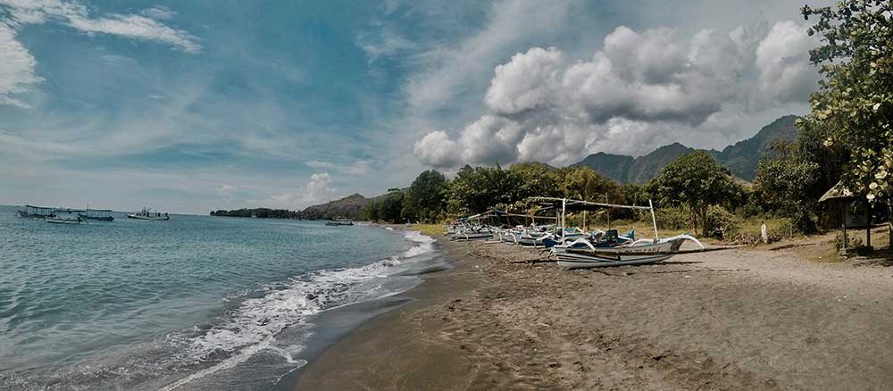 Indonesia Beach with boats