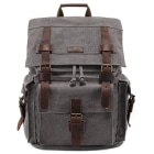 Kattee-Leather-Canvas-Backpack-Rucksack