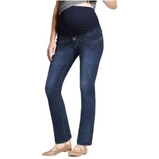 Motherhood Maternity Women's Maternity Indigo Blue Stretch Secret Fit Belly Straight Jean