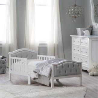 Orbelle Gray Padded Toddler Bed