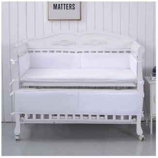 Qeeruim Home Crib Bumper Breathable Pads for Baby Crib