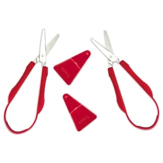 Loop Scissors for Kids 2 Pack, Adaptive Cutting for Small Hands