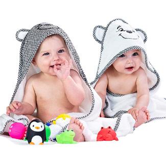2 Pack Premium Baby Hooded Towels