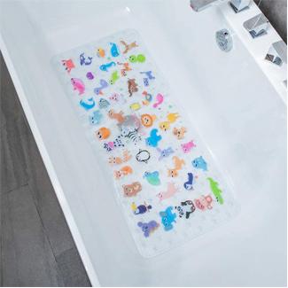 BeeHomee Cartoon Non Slip Bathtub Mat for Kids