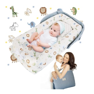 Baby Lounger, GORSETLE Portable Co-Sleeping Baby Nest