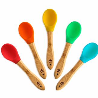 Bambusi Natural Bamboo Baby Spoons