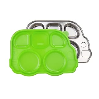 Innobaby Din Din Smart Stainless Divided Platter with Sectional Lid