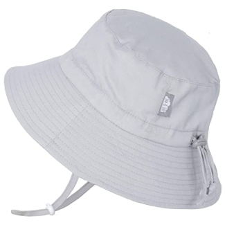 JAN & JUL GRO-with-Me Kids' Cotton Bucket Sun-Hats with 50+ UPF Protection