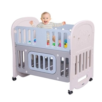 JOYMOR 6-in-1 Baby Bed Crib
