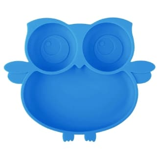 Kirecoo Owl Suction Silicone Plate for Toddlers (Individual plates)