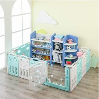 LAZY BUDDY Baby Playpen Toy Storage Organizer Set