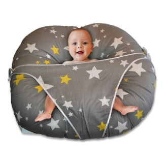 Baby Lounger Pillow-Baby Lounger with Built-in Safety Restraint