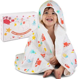 Muslin Hooded Towel with Belt