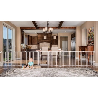 Regalo 192-Inch Super Wide Adjustable Baby Gate and Play Yard