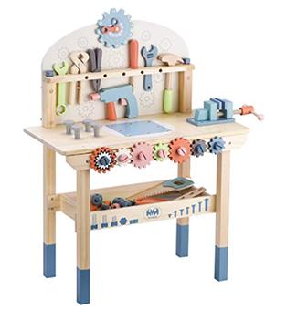 Toddler wooden work bench