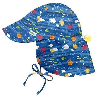 i play. by green sprouts Baby Flap Hat | All-Day UPF 50+ Sun Protection