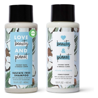 Love Beauty and Planet Volume and Bounty Thickening Shampoo and Conditioner