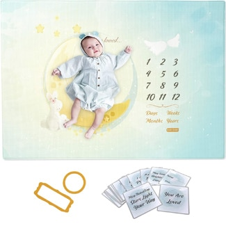 Baby Care Milestone Play Mat – Reach for The Moon and Stars