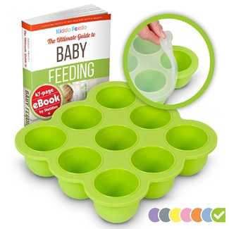 Kiddo Feedo Silicone Baby Food Storage Container & Freezer Tray with Lid
