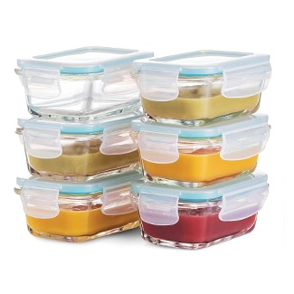 FineDine Superior Glass Baby Food Storage Containers