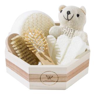 Globe Toddlers Wooden Baby Bath Kit Gift Set