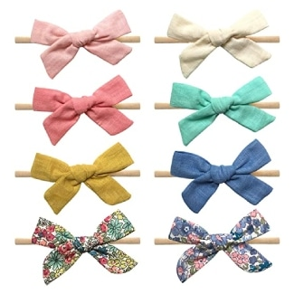 Cherssy Baby Girl Bows and Headbands