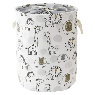 INough Baby Hamper Giraffe Storage Basket, Toy Storage Organizer Collapsible Laundry Baskets with Drawstring Closure