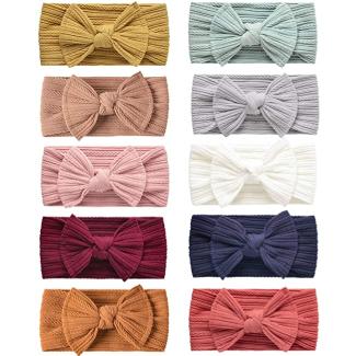 LaPettieCo Handmade Baby Headbands Stretchy Nylon Headband with Bows