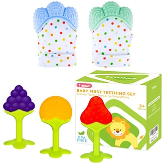 Michef Teething Pack-Mittens and Toys