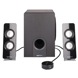 AmazonBasics AC Powered 2.1 30W Bluetooth Computer Speakers