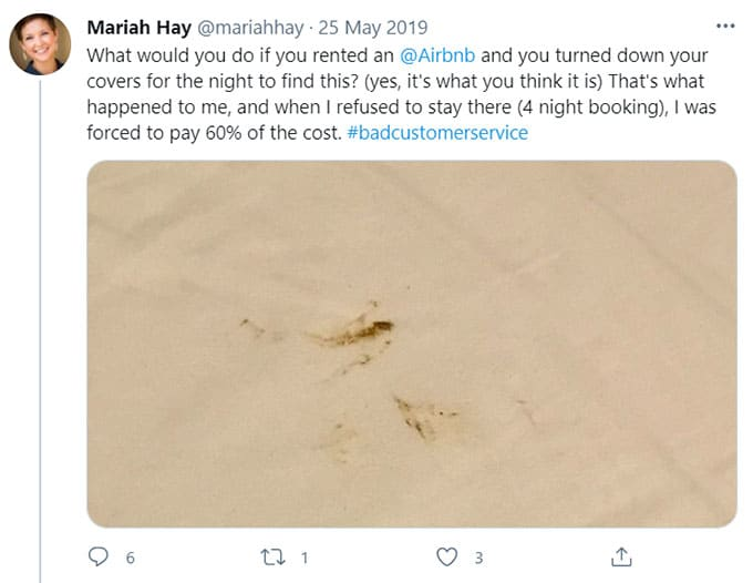 Airbnb Feces-related
