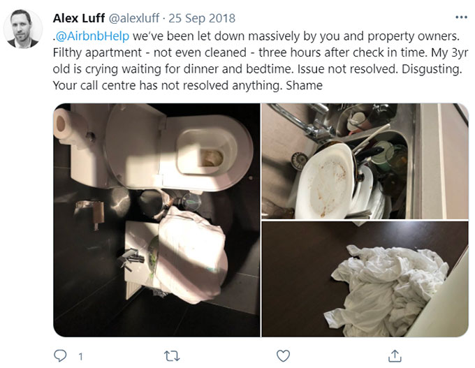 Airbnb No Cleaning after last guests