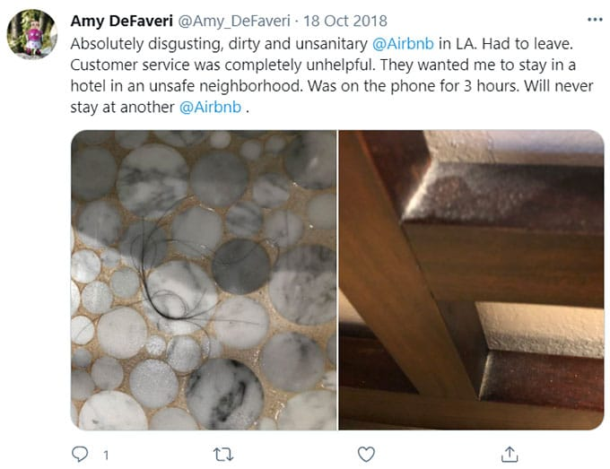 Airbnb Otherwise Filthy, Smelly, Unhealthy