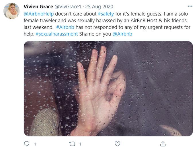 Airbnb Harassment, Assault