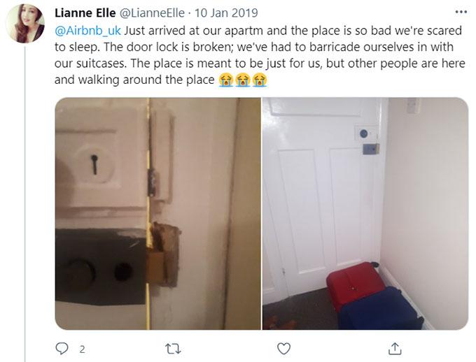 Airbnb Broken, Faulty Doors, Windows, Ceilings