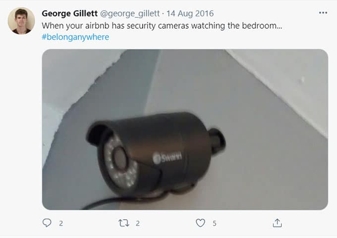 Airbnb Hidden Camera