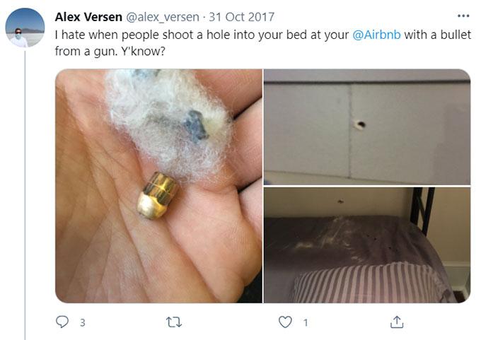 Airbnb Gun Bullet-related