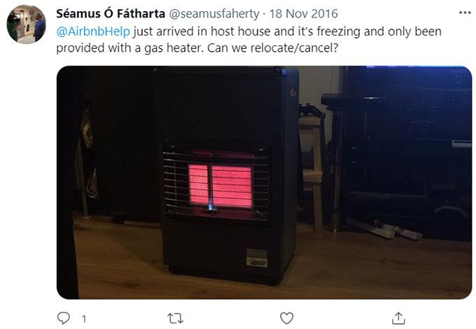 Airbnb No Heat No Hot Water