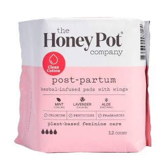 The Honey Pot Clean Cotton Postpartum Pads