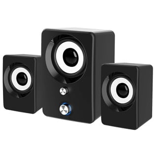 Computer Speakers, Marboo 3.5mm Jack PC Speakers Wired with Subwoofer