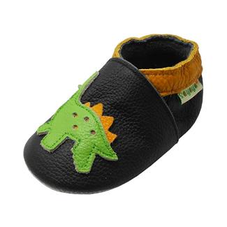 SAYOYO Baby Dinosaurs Soft Sole Leather Shoes