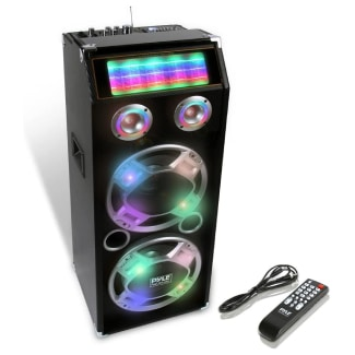 Disco Jam Powered PA Speaker System With Flashing DJ Lights