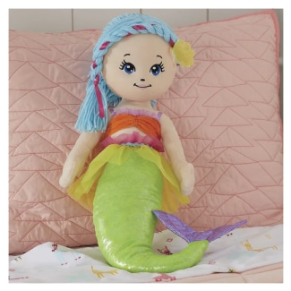 Soft Mermaid Rag Doll for Girls