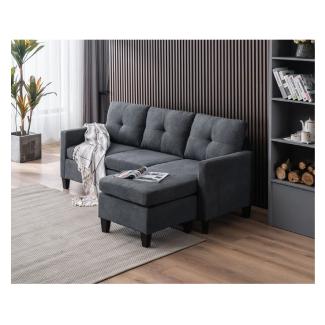 Zipcode Design Almendarez 77 Wide Reversible Modular Sofa & Chaise with Ottoman