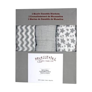 Rose Textiles Star Wave 3-Piece Muslin Swaddle Blanket Set
