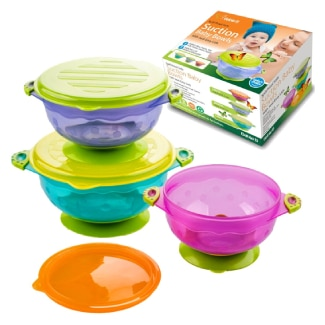 Babie B Best Suction Baby Bowls with Seal-Easy Lids