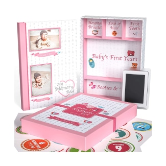 Little Growers Baby Memory Book with Keepsake Box