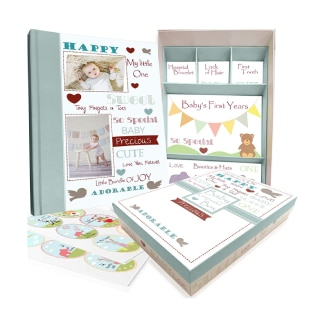 Next Mommy Baby Memory Book w/Keepsake Box