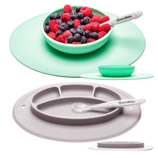 UpwardBaby Suction Toddler Plates and Bowls Set for Babies