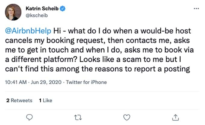 other airbnb scam
